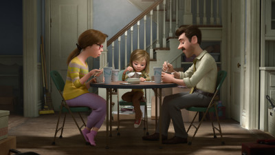 """WHAT ARE THEY THINKING? -- Pixar Animation Studios takes audiences inside the mind of 11-year-old Riley, who is uprooted from her Midwest life when her father starts a new job in San Francisco. Guided by her five Emotions - Joy (voice of Amy Poehler), Sadness (voice of Phyllis Smith), Fear (voice of Bill Hader), Disgust (voice of Mindy Kaling) and Anger (voice of Lewis Black) - Riley struggles to adjust, and when Fear, Disgust and Anger are left in control, even a simple family dinner takes an unexpected turn. Also featuring the voices of Diane Lane as Mom, Kaitlyn Dias as Riley and Kyle MacLachlan as Dad, Disney•Pixar's """"Inside Out"""" opens in theaters nationwide June 19, 2015. ©2014 Disney•Pixar. All Rights Reserved."""